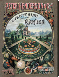 Everything for the Garden 1886 - Stretched Canvas Print