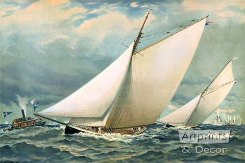 The Finish by William F Hallsall - Art Print