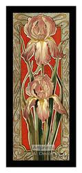 Stylized Lavender Narcissus - Framed Art Print