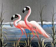 Retro Flamingos - Art Print