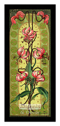 Stylized Pink Tiger Lilies - Framed Art Print