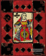 Queen of Clubs - Art Print