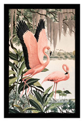 Pink Flamingos - Framed Art Print