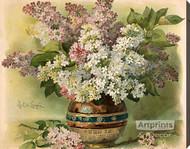 Lilacs by Paul de Longpre - Stretched Canvas Art Print