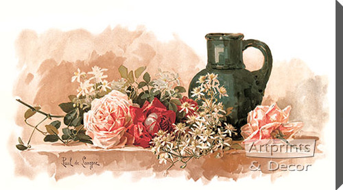 A Fragrant Decoration by Paul de Longpre - Stretched Canvas Art Print