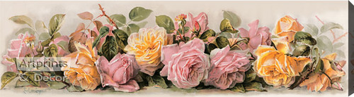 Roses by Paul de Longpre - Stretched Canvas Art Print