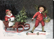 Christmas Greetings - Stretched Canvas Art Print