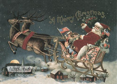 A Merry Christmas - Art Print