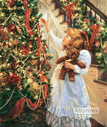 night before christmas art print by sandra kuck at artprintsanddecor com night before christmas art print