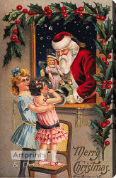 Merry Christmas - Stretched Canvas Art Print