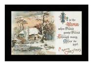 A Merry Christmas Greeting - Framed Art Print
