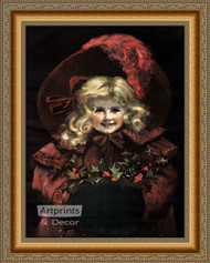 A Christmas Smile - Framed Art Print