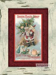 Santa Claus Soap -  Art Print