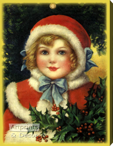 A Christmas Outfit - Stretched Canvas Art Print