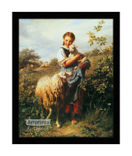 The Shepherdess - Framed Art Print