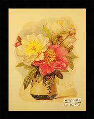 Peonies by Paul de Longpre - Framed Art Print