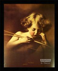 Cupid Asleep - Framed Art Print