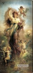 Spring Fantasy by Hans Zatzka – Stretched Canvas Art Print