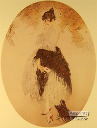 La Lettre by Louis Icart - Art Print