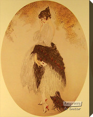 La Lettre by Louis Icart – Stretched Canvas Art Print