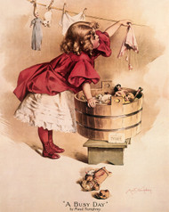 A Busy Day by Maud Humphrey - Art Print