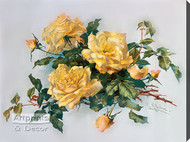 Yellowish Pink Roses by Catherine Klein - Stretched Canvas Art Print