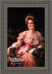 Lady in Pink - Framed Art Print
