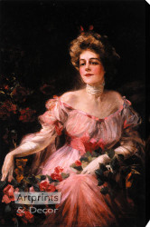 Lady in Pink by Philip Boileau - Stretched Canvas Art Print