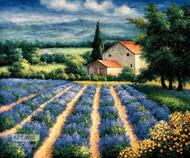 Lavender Flower Field - Art Print