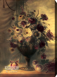 A Lavender Still Life - Stretched Canvas Art Print