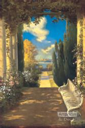 The Rose Bower by R. Atkinson Fox - Art Print