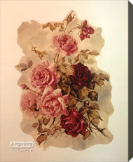 Victorian Roses by Paul de Longpre - Stretched Canvas Art Print