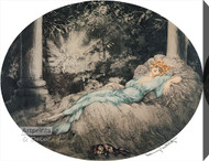 Sleeping Beauty by Louis Icart - Stretched Canvas Art Print
