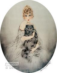 Persian Cat by Louis Icart - Art Print
