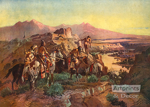 Planning the Attack by Charles Marion Russell - Art Print