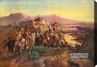 Planning the Attack by Charles Marion Russell - Stretched Canvas Art Print