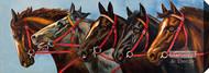 Five Horses - Stretched Canvas Art Print
