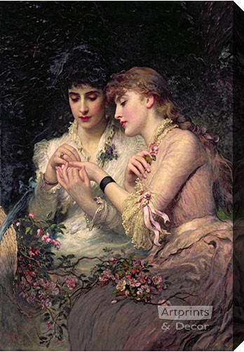 A Thorn Amidst Roses by James Sant - Canvas Art Print