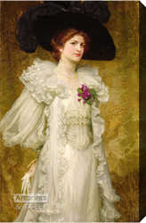 My Fair Lady by Sir Frank Dicksee - Stretched Canvas Art Print