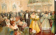 The Patriarch's Ball by W. Granville Smith - Stretched Canvas Art Print