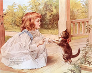 The Dancing Lesson by A.W. Adams - Art Print