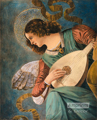 Angel and Mandolin - Art Print