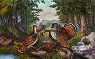 Mating In the Woods by Currier & Ives - Art Print