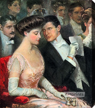 The Only Two At The Opera by Clarence Underwood - Stretched Canvas Art Print