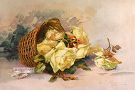Basket of Yellow Roses by Catherine Klein - Art Print