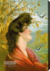 Society Girl by Alfred M Art Print of Vintage Art Turner 16 x 20