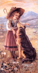 The Little Shepard by C. Spiegle - Art Print