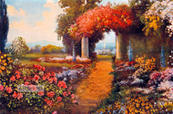 Garden Path Through Columns by R. Atkinson Fox - Art Print