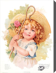 Little Bo Peep by Maud Humphrey - Stretched Canvas Art Print