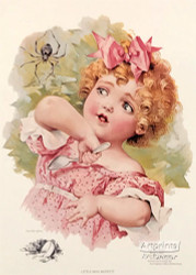 Little Miss Muffet by Maud Humphrey - Art Print